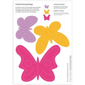 """Carte à poinçonner """"papillons -2"""""""