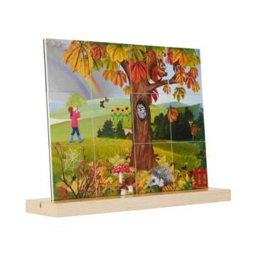 Puzzle des saisons - automne