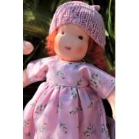 Poupée Waldorf 22 cm : fille cheveux roux