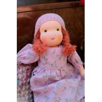 Poupée Waldorf 32 cm : fille cheveux roux