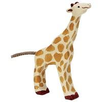 Girafe, petite, mangeant