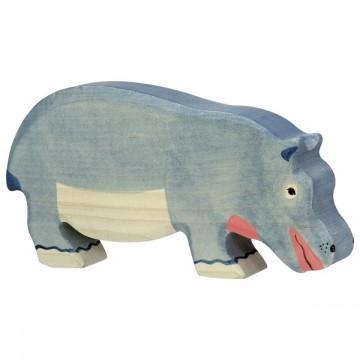 Hippopotame, mangeant