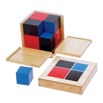 Cube du binôme en hévéa