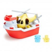 Bateau de secours et hélicoptère Green Toys