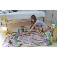 "Tapis de jeu ""Circuit urbain"" 80*120 cm"