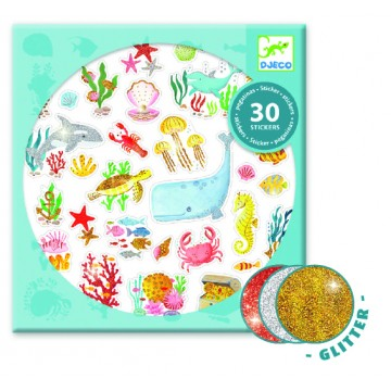 Stickers paillettes - Aqua dream