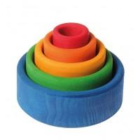 5 bols colorés-extérieur bleu
