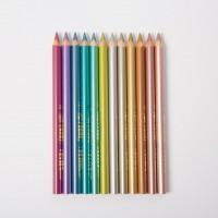 12 crayons de couleur Lyra Super Ferby Metallic