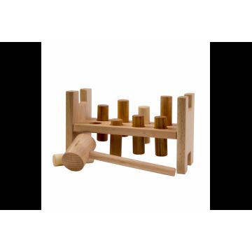 Cylindres bois naturel à marteler