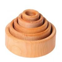 5 bols bois naturel