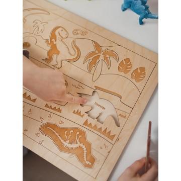 """Puzzle """"Au temps des dinosaures"""""""