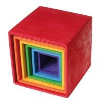 Ensemble de 6 boîtes-grand modèle