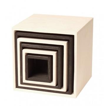 Ensemble de 6 boîtes-grand modèle-noir et blanc