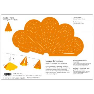 "Carte à poinçonner guirlande lumineuse "" orange-jaune"""