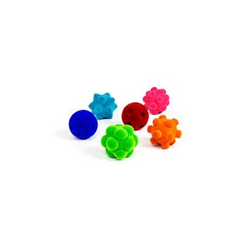 Assortiment de 6 balles sensorielles