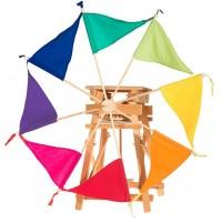 Moulin à vent toilé couleur