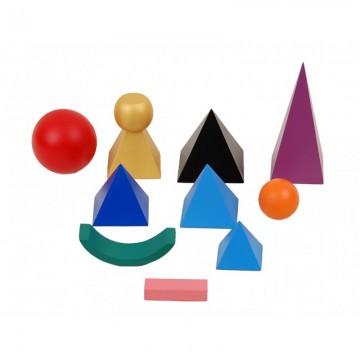 Symboles de grammaire en bois et leur plateau