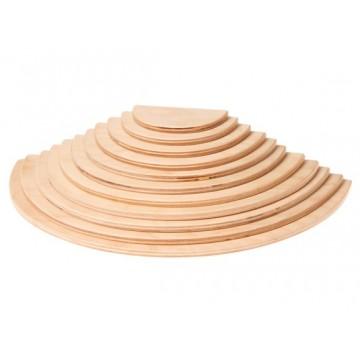 Demi-disques bois naturel