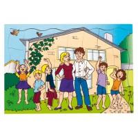 Puzzle Famille dans la nouvelle maison