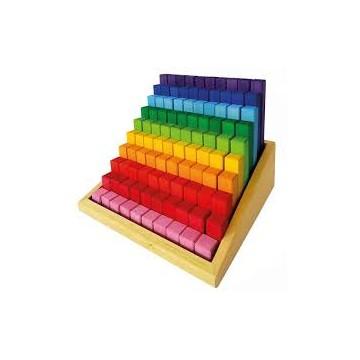 Escalier à compter en bois - 100 pièces Bauspiel