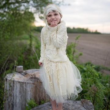 Costume de momie avec jupe : 5-7 ans