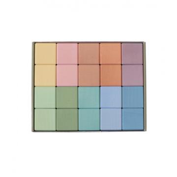 """Ensemble de cubes """"Earth"""" pastel"""