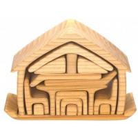 Glückskäfer maison en bois avec meubles 22 cm