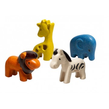 """4 figurines """"animaux sauvages"""""""
