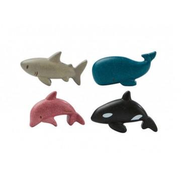 "4 figurines ""animaux marins"""