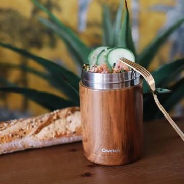 Boîte repas isotherme inox - wood 650ml