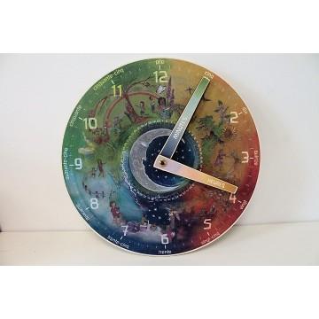 Horloge pour l'apprentissage de l'heure - version française