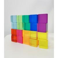 20 cubes translucides colorés- Bauspiel