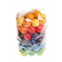 60 perles en bois 20 mm