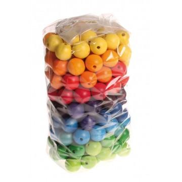 180 perles en bois 20 mm
