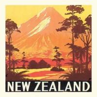 """Carte """"Nouvelle-Zélande"""""""