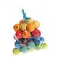 36 perles en bois 30 mm
