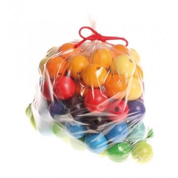 96 perles en bois 30 mm