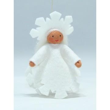 """Fée """"cristal de neige"""" à suspendre-cheveux blancs"""