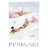 Carte postale Fevrier