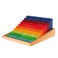 Escalier à compter multicolore