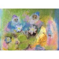 Nains parmi les fleurs