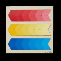 Puzzle dégrade couleur primaire