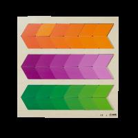 Puzzle degrader Orange/violet/green