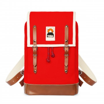 Ykra sac Matra Mini rouge-fond cuir