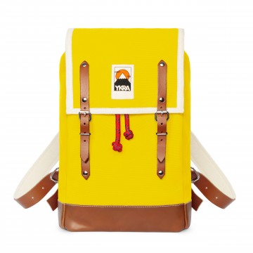 Ykra Sac Matra Mini jaune-fond cuir