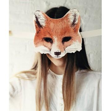 Masque de renard en feutrine