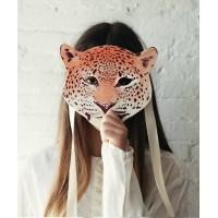 Masque de léopard en feutrine