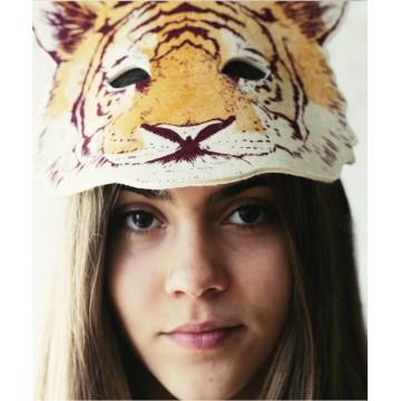 Masque de tigre en feutrine