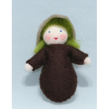 Enfant graine - cheveux verts
