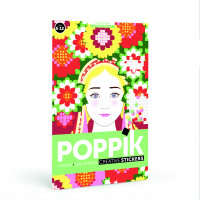 Poster géant +1600 stickers : 6-12 ans Flower power